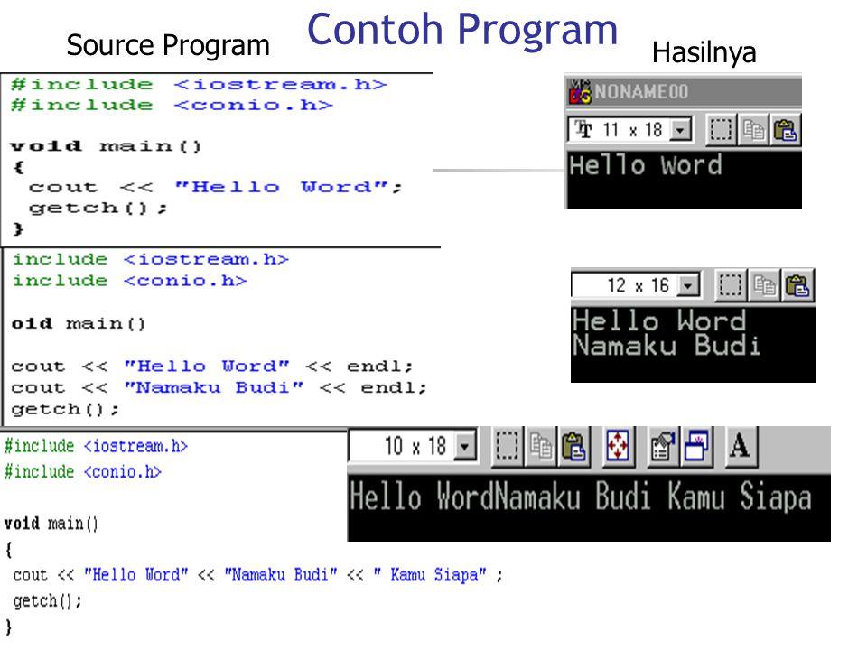 Source Program Hasilnya