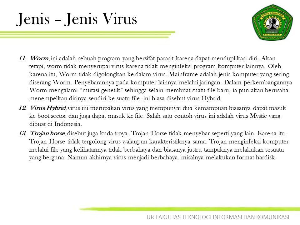 Cara Penyebaran Virus Virus layaknya virus biologi harus memiliki media untuk dapat menyebar, virus komputer dapat menyebar ke berbagai komputer/mesin lainnya juga melalui berbagai media, diantaranya: 1.
