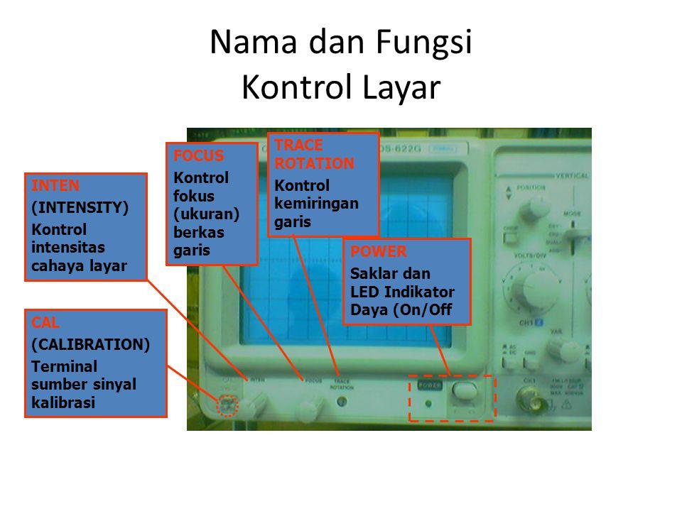 Kontrol Vertikal, Horisontal, dan Trigger
