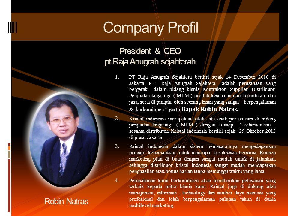 1.PT Raja Anugrah Sejahtera berdiri sejak 14 Desember 2010 di Jakarta.