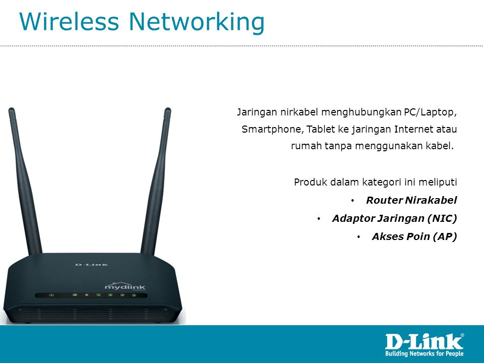 DCS-942L Wireless N H.264 IR Network Camera Spesifikasi: • 10/100 BASE- TX Fast Ethernet • 802.11b/g/n WLAN • Video CODEC: H.264, MJPEG, MPEG • Resolusi: 640x480, 320x240, 160x120 • Lensa: Focal length: 3.15 mm, F2.8 • Sensor: VGA 1/5 inch CMOS sensor • Minimum Illumination: • 1 lux @ F2.8 • 0 lux with IR LED • Slot MicroSD • 4x digital zoom • Motion Detection