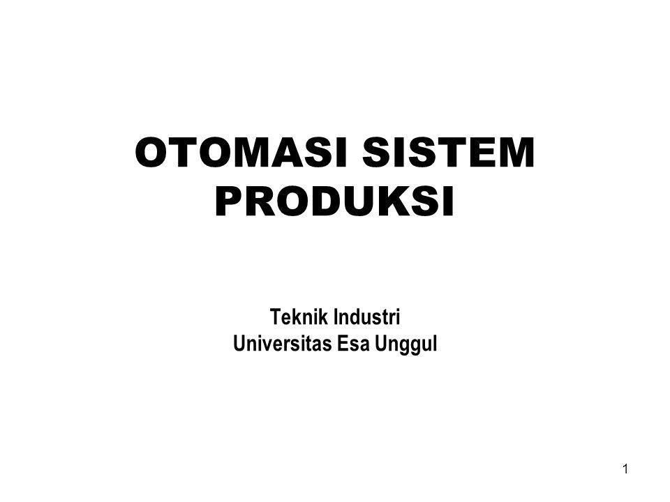 1 OTOMASI SISTEM PRODUKSI Teknik Industri Universitas Esa Unggul