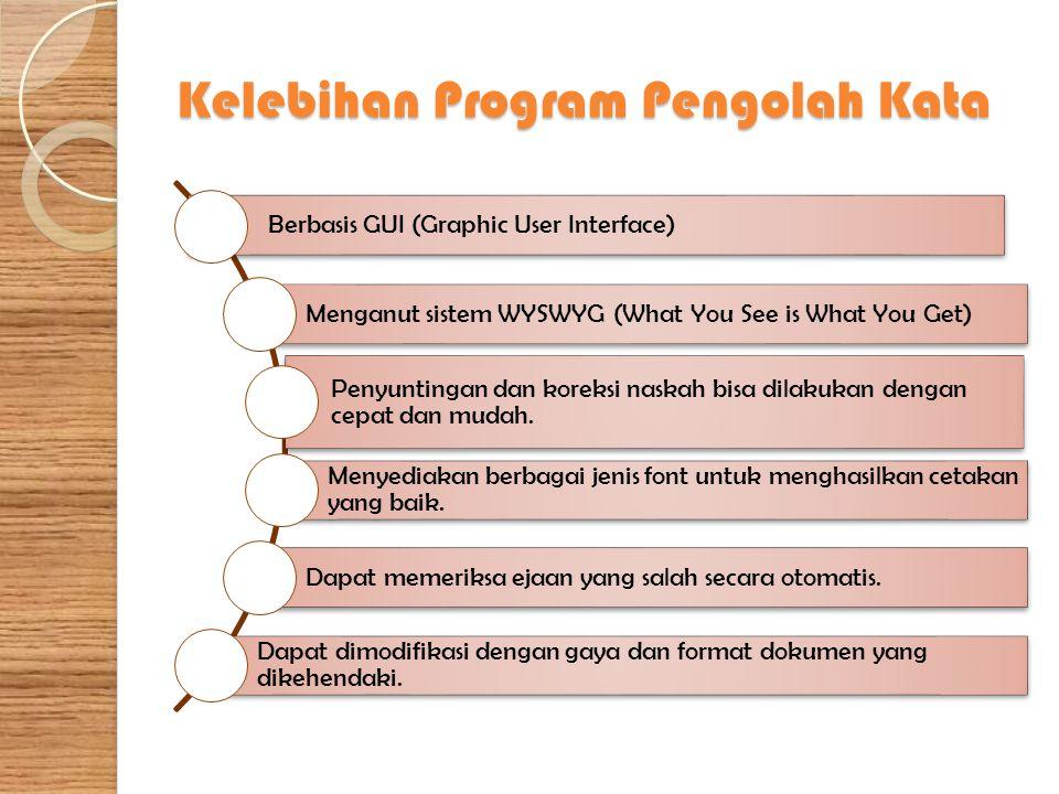 Membuka Program Microsoft Word Menjalankan program aplikasi pengolah kata Microsoft Word dari desktop komputer dapat dilakukan dengan langkah-langah sebagai berikut.