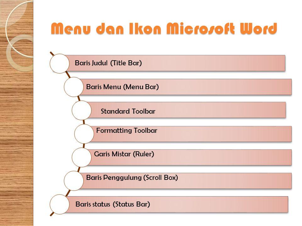 Menu Help Menu Help digunakan sebagai fasilitas bantuan dari Microsoft Word, dengan submenu sebagai berikut.