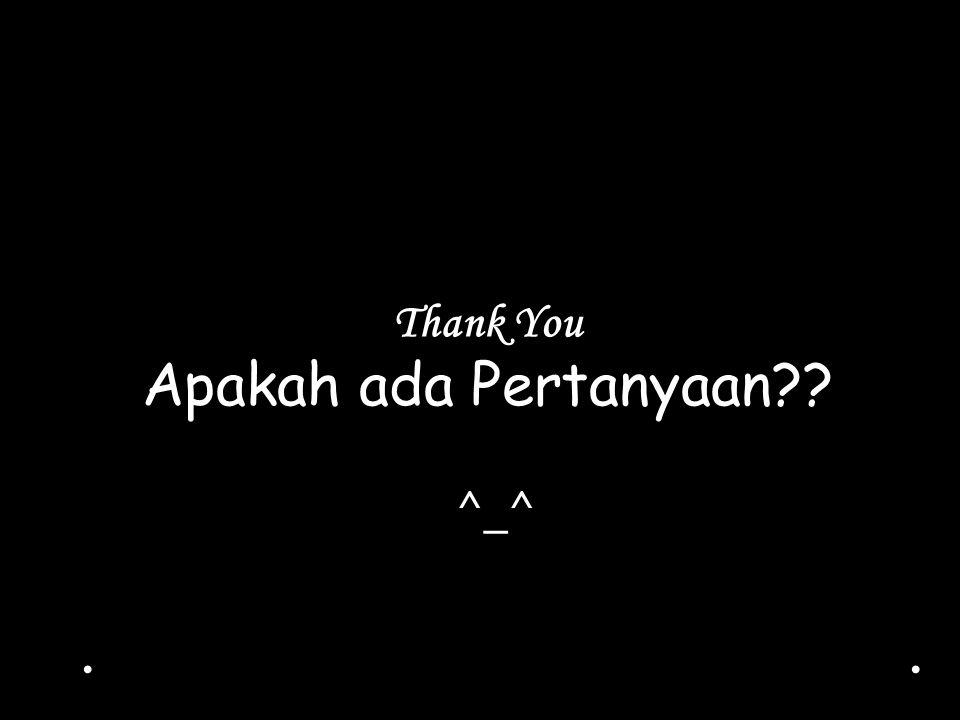 Thank You Apakah ada Pertanyaan?? ^_^..