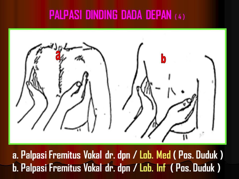 a.Palpasi Fremitus Vokal dr. dpn / Lob. Med ( Pos.