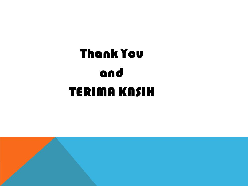 Thank You and TERIMA KASIH