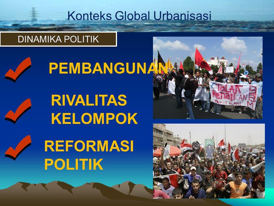 Konteks Global Urbanisasi DINAMIKA POLITIK PEMBANGUNAN RIVALITAS KELOMPOK REFORMASI POLITIK