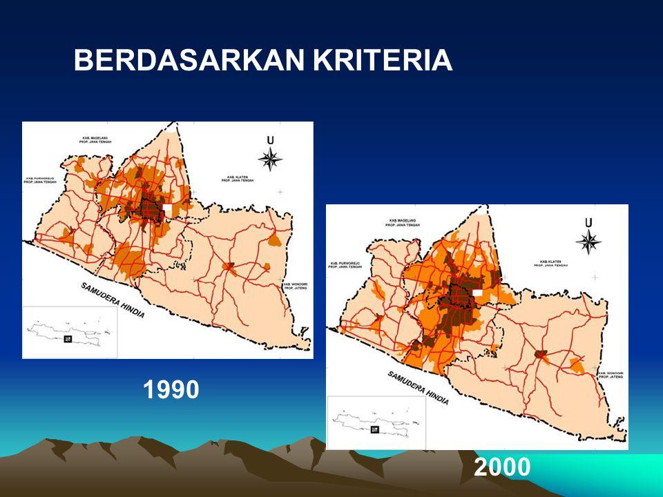1990 2000 BERDASARKAN KRITERIA