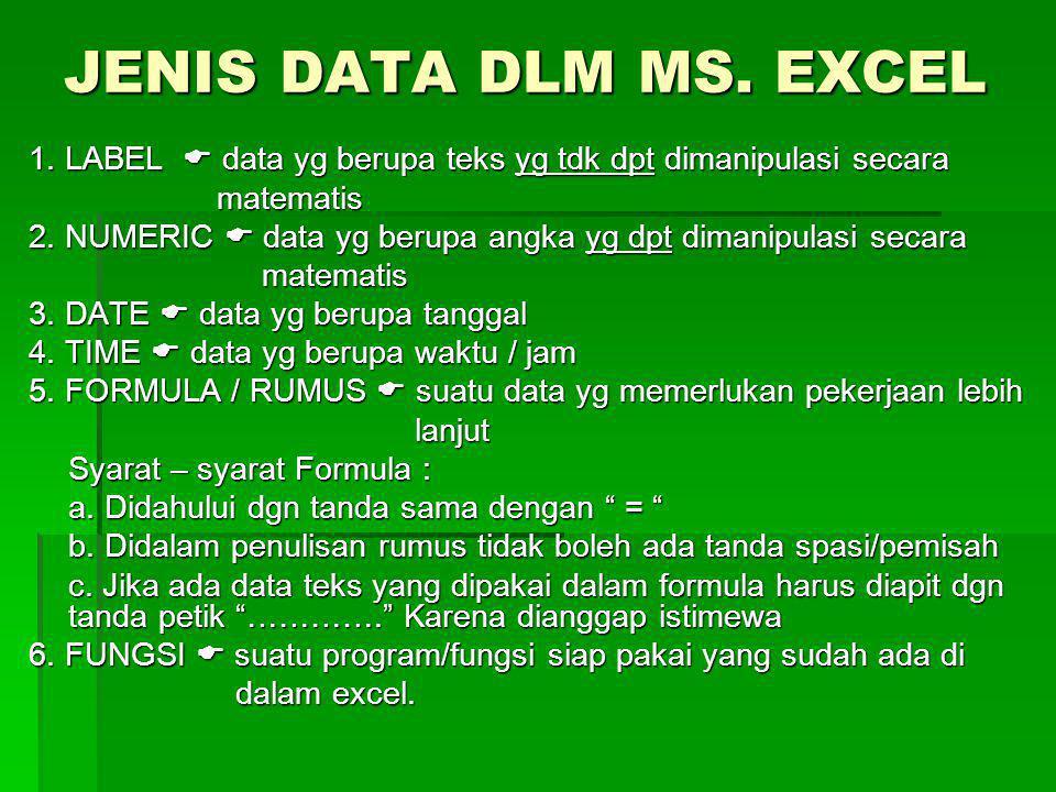 FUNGSI MEMBACA TABEL  Salah satu fungsi Excel yg gunanya untuk membaca suatu tabel data + mengambil data guna diletakan pada tabel induk Bagaimana Caranya fungsi tersebut mengambil data ??.