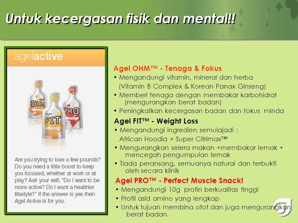 Produk yang diperlukan oleh setiap orang setiap hari ! Agel EXO™ - Super Antioxidant • 17 jenis buah yg eksotik dgn >200 jenis antioksidan • Boleh dia