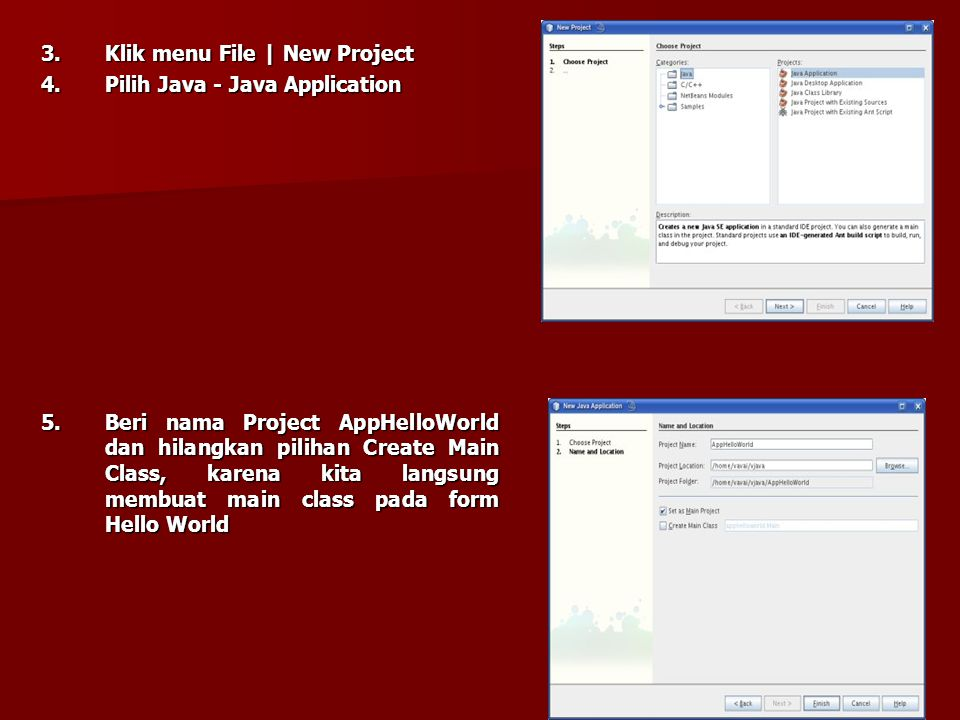BAB 4 PERANCANGAN 4.1 Aplikasi GUI menggunakan IDE Kita akan menggunakan Netbeans IDE untuk melakukan hal ini. Berikut adalah langkah-langkahnya : 1.I