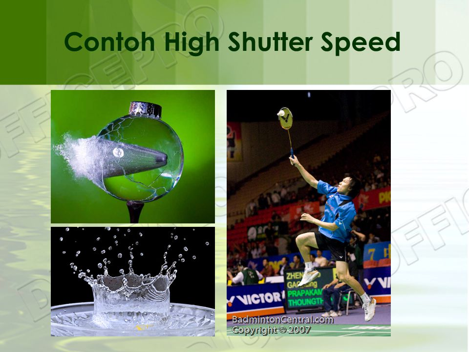 Contoh High Shutter Speed