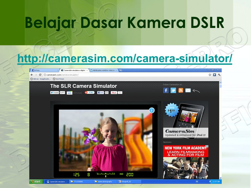 Belajar Dasar Kamera DSLR http://camerasim.com/camera-simulator/