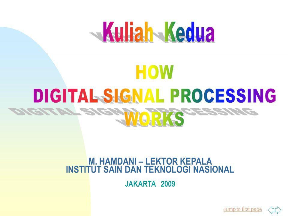 Jump to first page M. HAMDANI – LEKTOR KEPALA INSTITUT SAIN DAN TEKNOLOGI NASIONAL JAKARTA 2009
