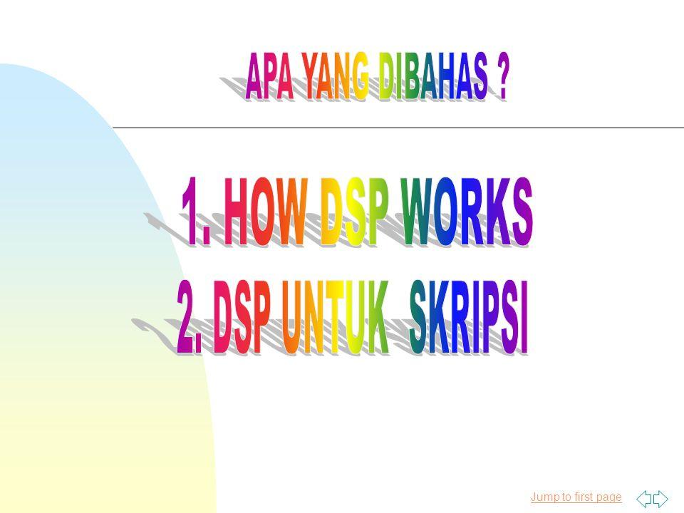 Apa yang Bisa Dilakukan Oleh DSP .