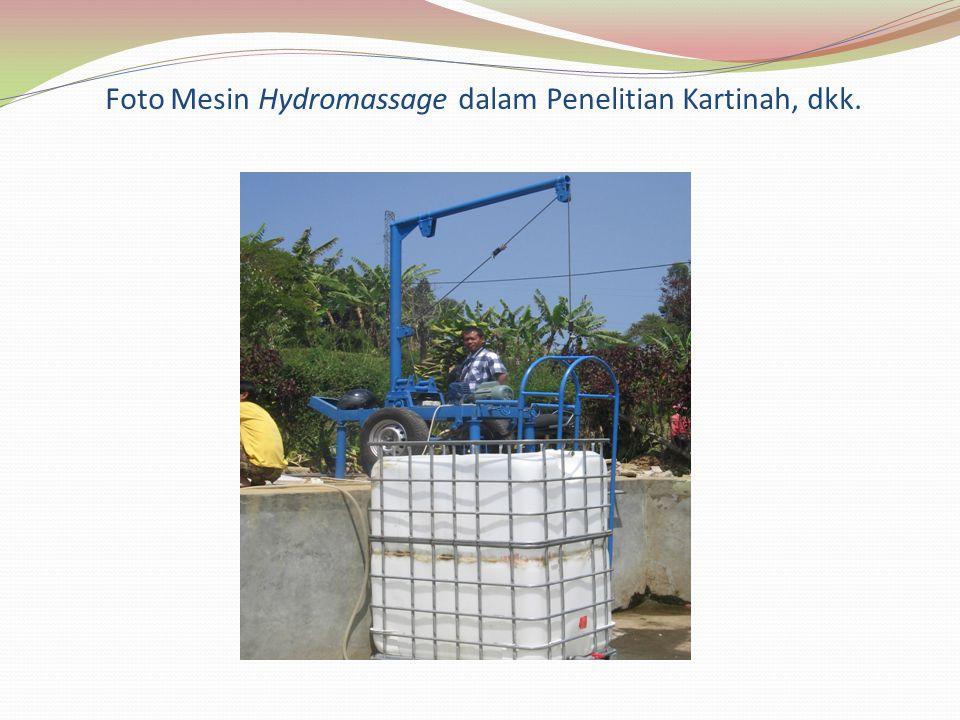 Foto Mesin Hydromassage dalam Penelitian Kartinah, dkk.