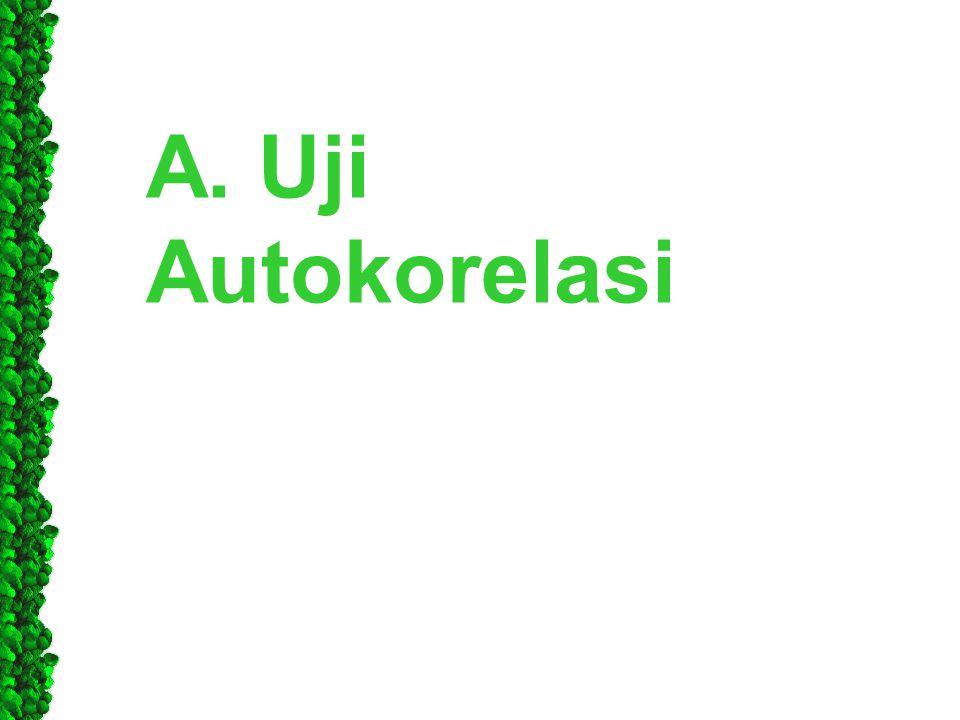 A. Uji Autokorelasi