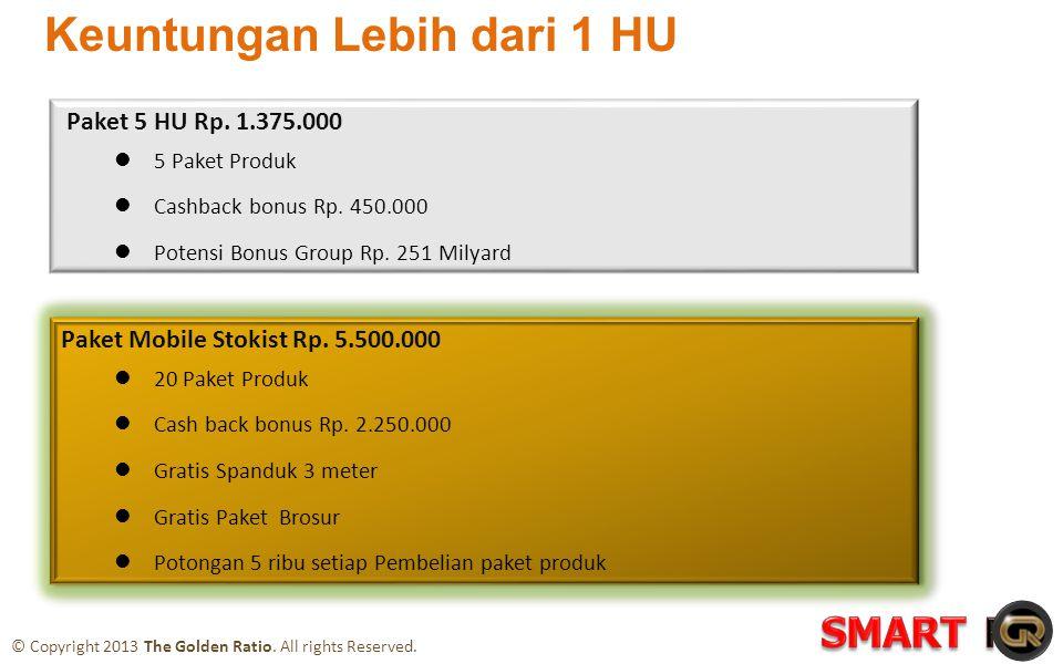 Paket 5 HU Rp. 1.375.000  5 Paket Produk  Cashback bonus Rp.
