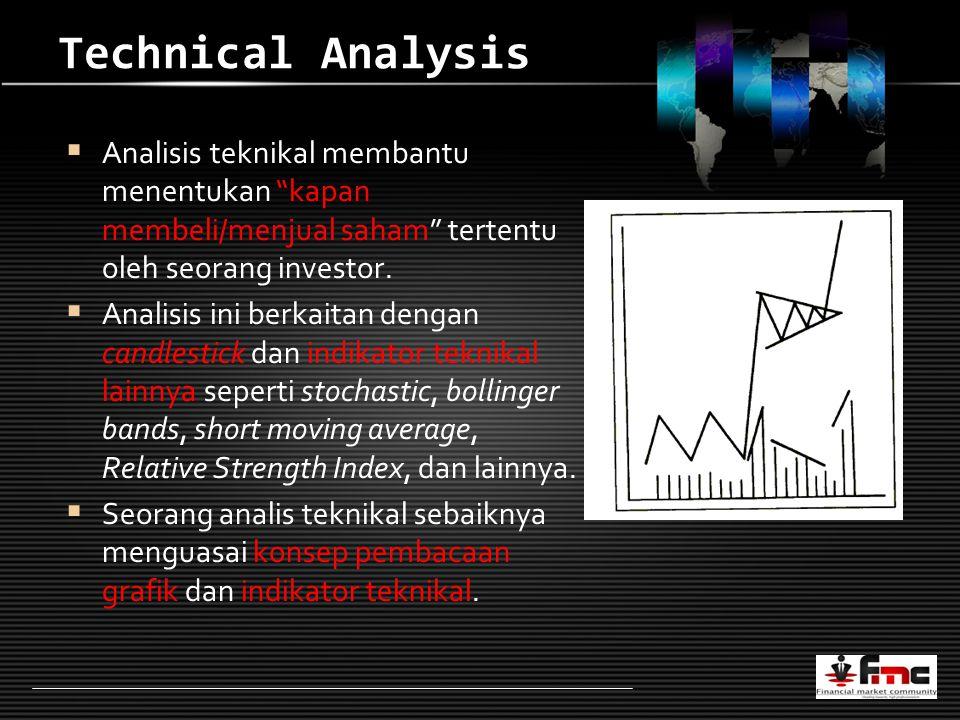 LOGO Technical Analysis  Analisis teknikal membantu menentukan kapan membeli/menjual saham tertentu oleh seorang investor.