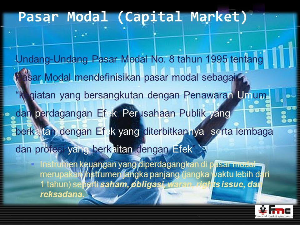 LOGO Pasar Modal (Capital Market) Undang-Undang Pasar Modal No.