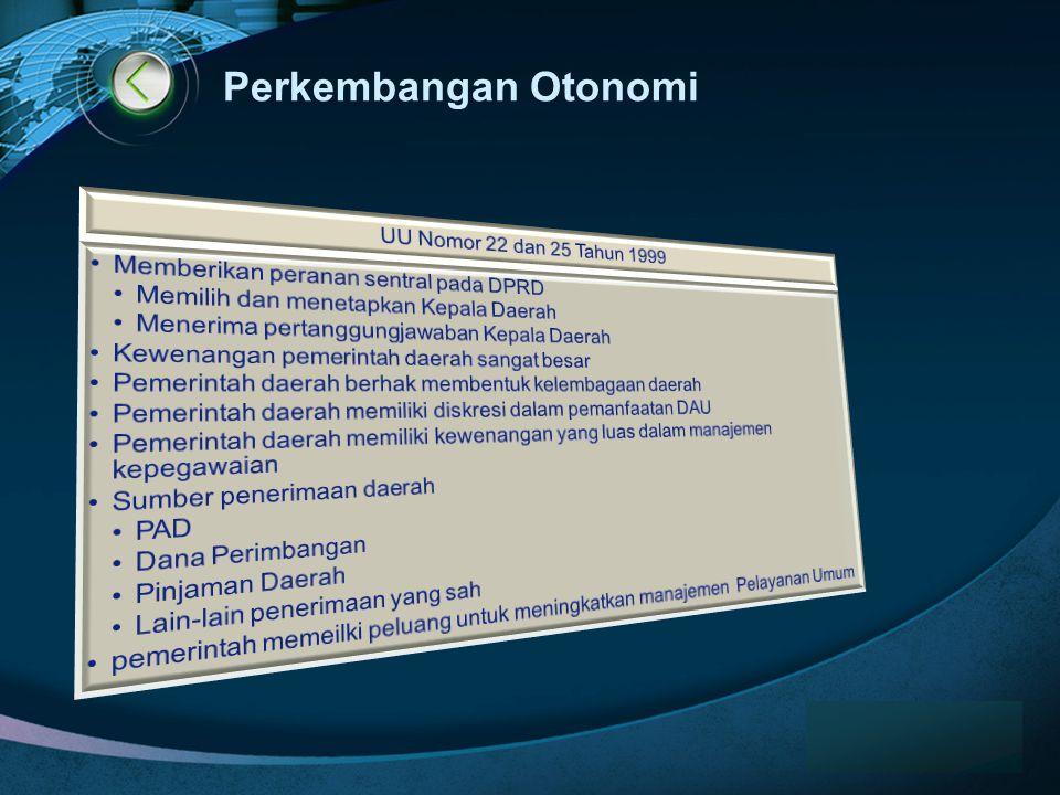 LOGO www.themegallery.com Perkembangan Otonomi