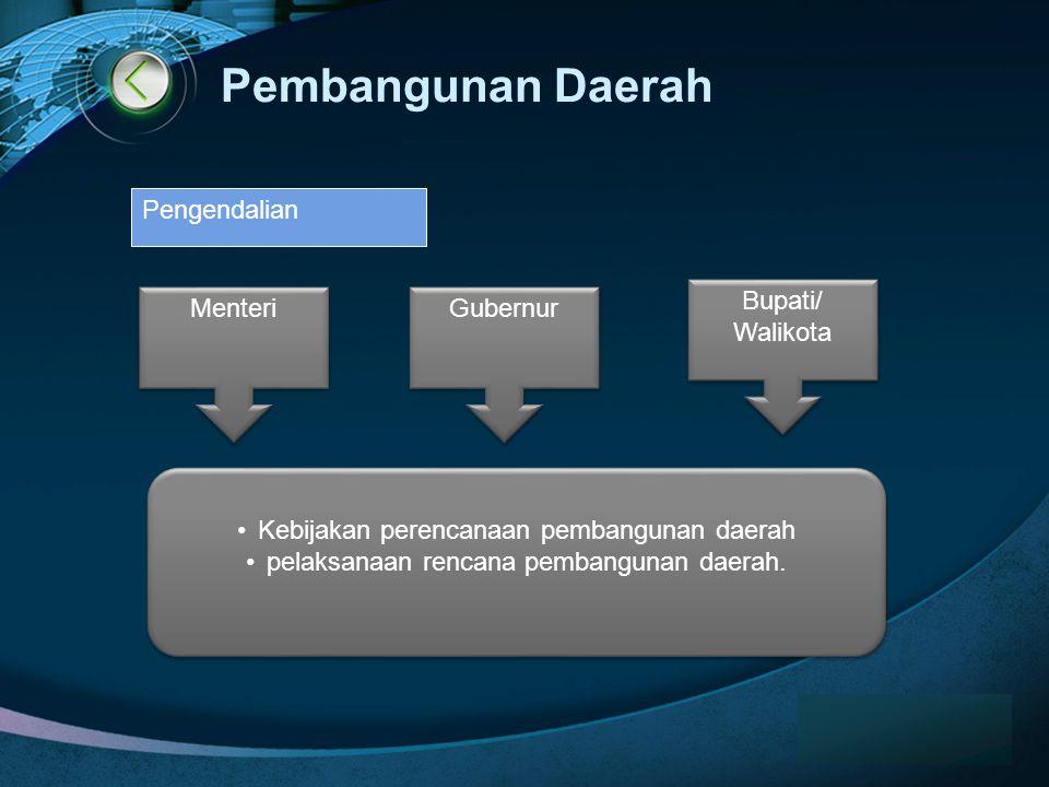 LOGO Pembangunan Daerah www.themegallery.com •Kebijakan perencanaan pembangunan daerah •pelaksanaan rencana pembangunan daerah.