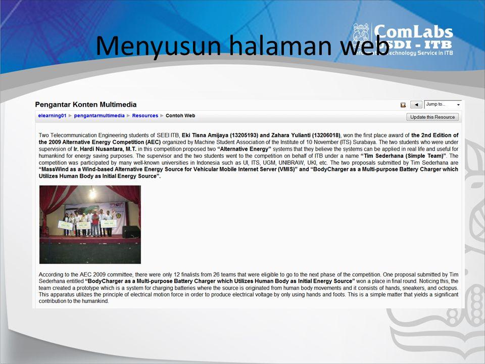 Menyusun halaman web