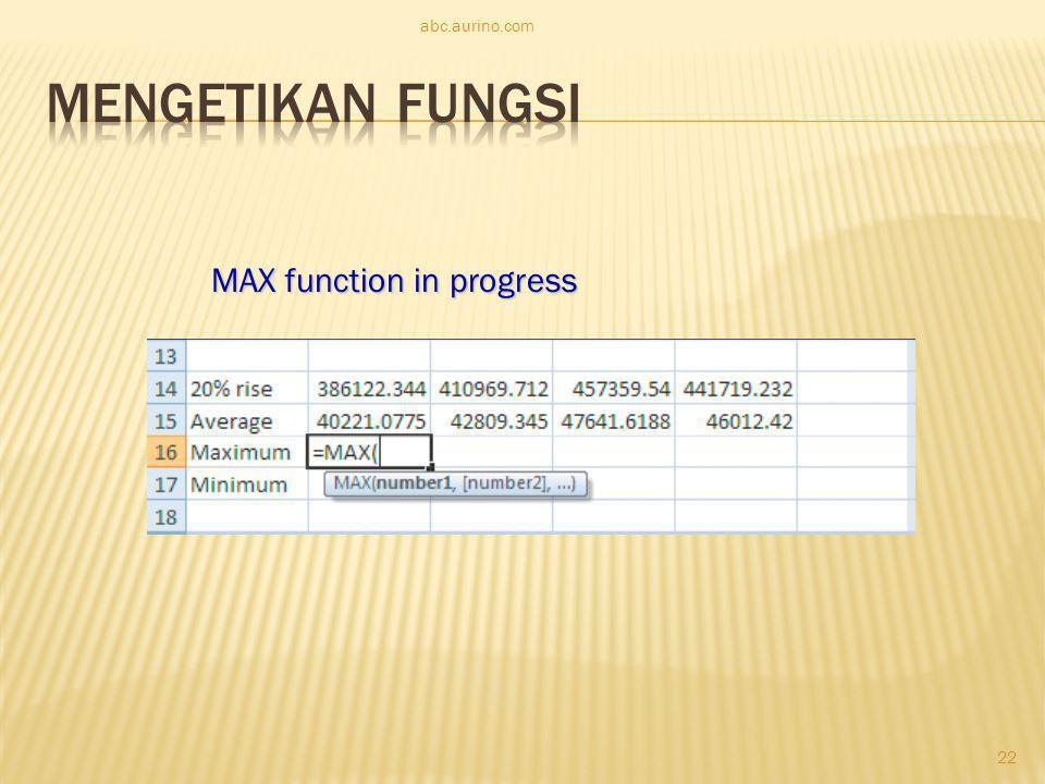 abc.aurino.com MAX function in progress 22