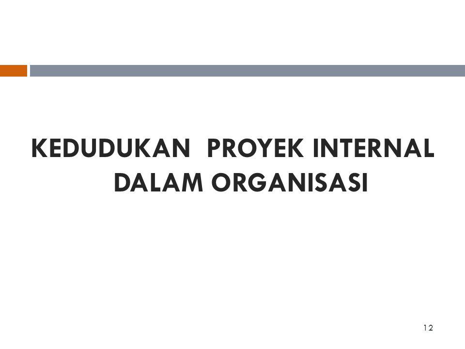 KEDUDUKAN PROYEK INTERNAL DALAM ORGANISASI 12