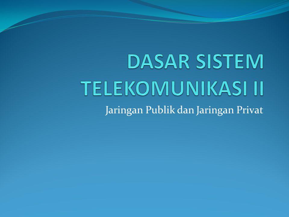 Jaringan Publik dan Jaringan Privat