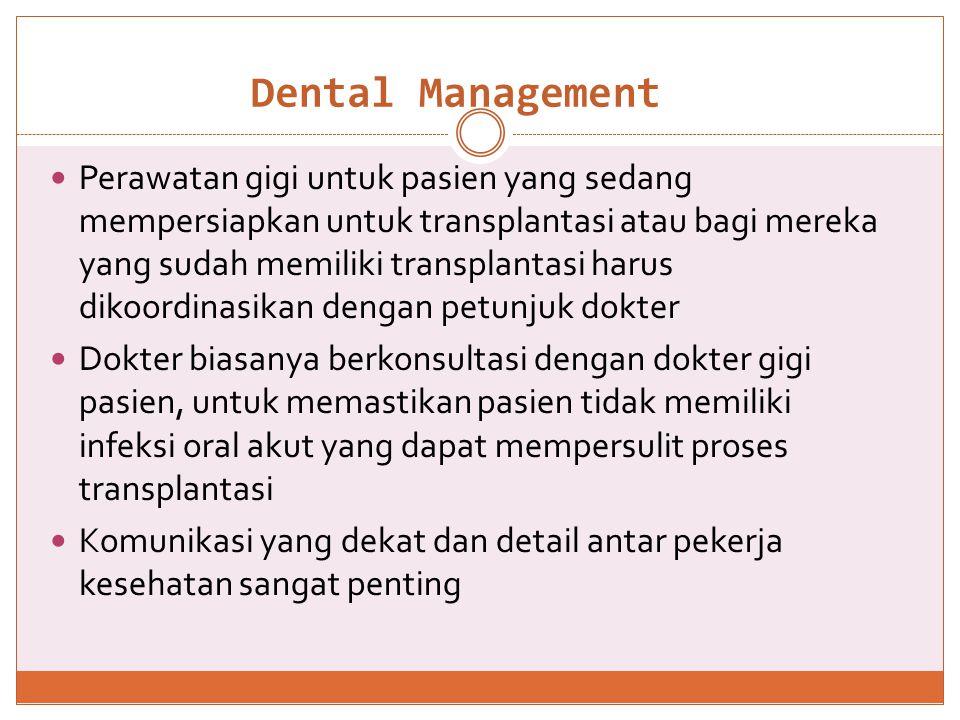 Dental manegement Post transplantation pretransplantation