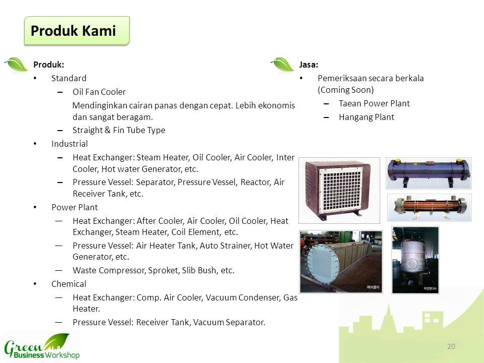 Produk: • Standard – Oil Fan Cooler Mendinginkan cairan panas dengan cepat. Lebih ekonomis dan sangat beragam. – Straight & Fin Tube Type • Industrial