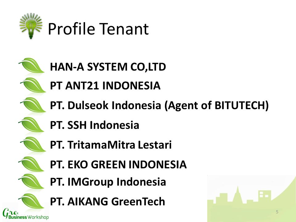 HAN-A SYSTEM CO,LTD Profile Tenant PT ANT21 INDONESIA PT.