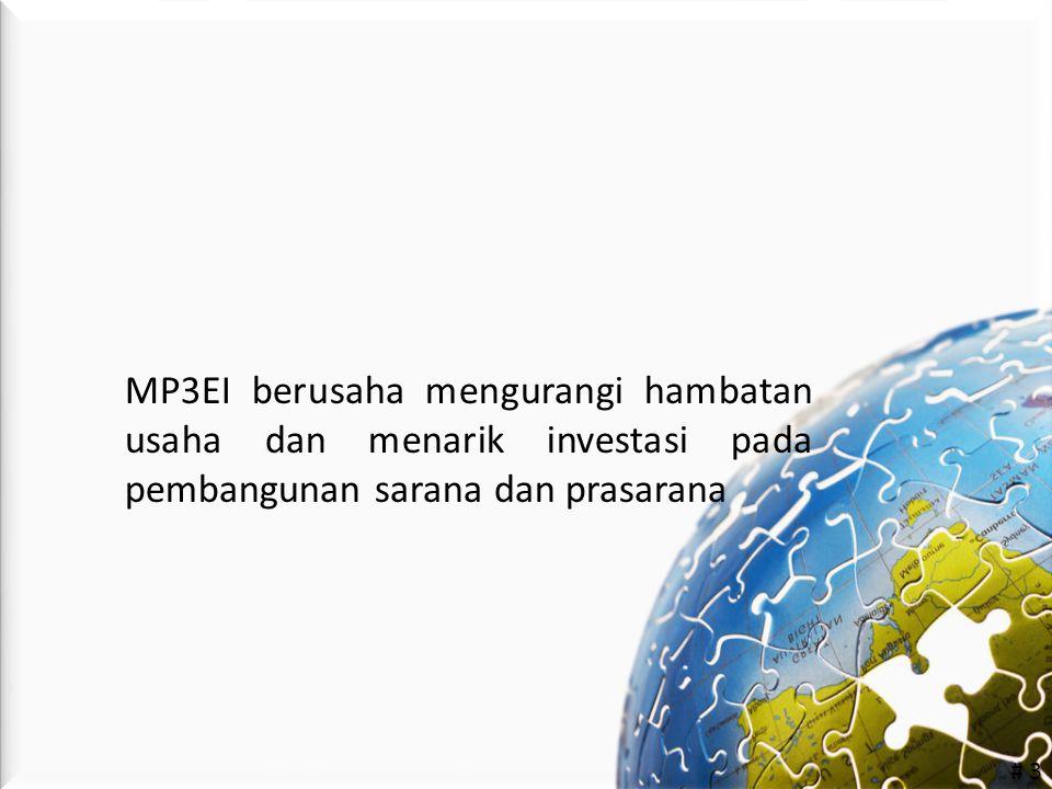 # 3 MP3EI berusaha mengurangi hambatan usaha dan menarik investasi pada pembangunan sarana dan prasarana