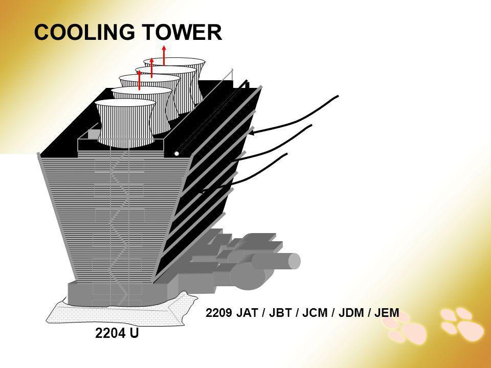 COOLING TOWER 2209 JAT / JBT / JCM / JDM / JEM 2204 U