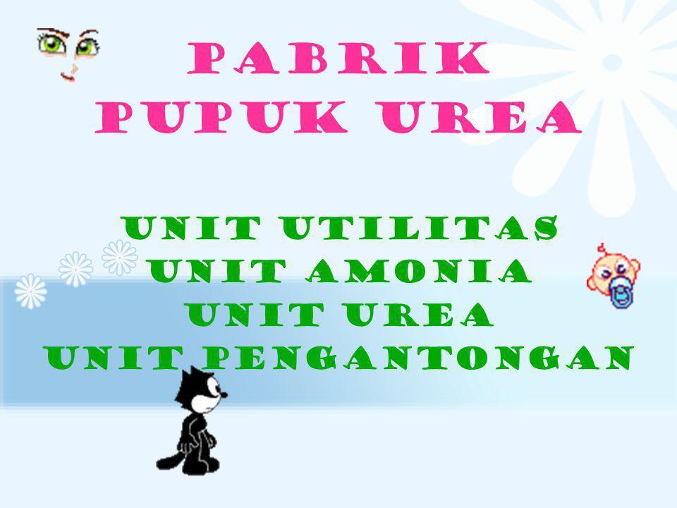 PABRIK PUPUK UREA Unit utilitas Unit amonia Unit urea Unit pengantongan
