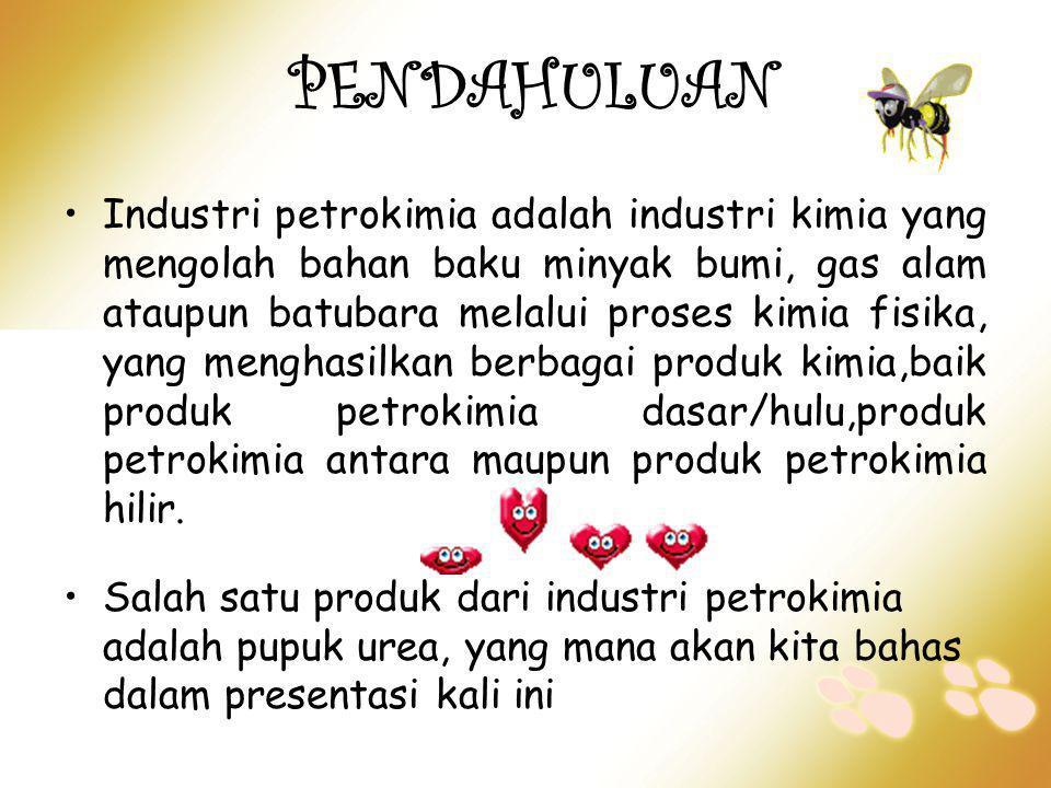 PENDAHULUAN •Industri petrokimia adalah industri kimia yang mengolah bahan baku minyak bumi, gas alam ataupun batubara melalui proses kimia fisika, ya