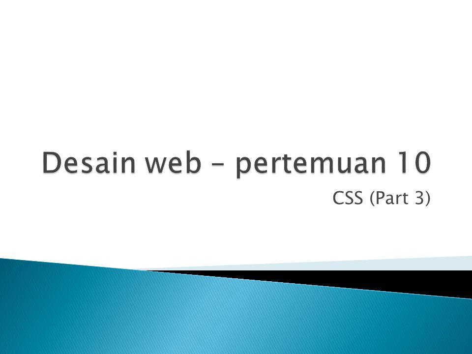 CSS (Part 3)