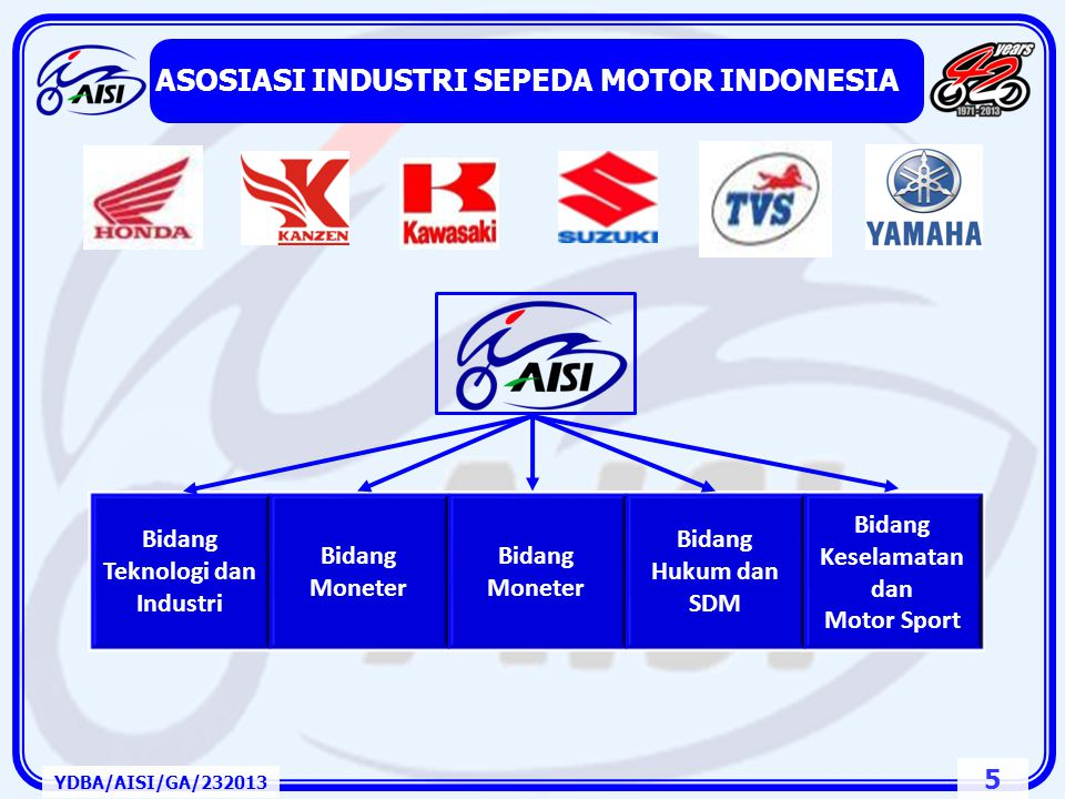 25 Asal Negara dalam Rantai Pasok (Supply Chain) YDBA/AISI/GA/232013 Negara Investor BKPM GIAMM MEMBERS (2013) 4W4W & 2W2WTotal Japan1313234571 Indonesia1232932364 Korea15117 USA03104 German12103 Taiwan92013 Malaysia32103 India30202 Swedia21012 Italia01001 Thailand10101 Perancis20000 Others900000 TOTAL366757114160 Sumber Data: GIAMM