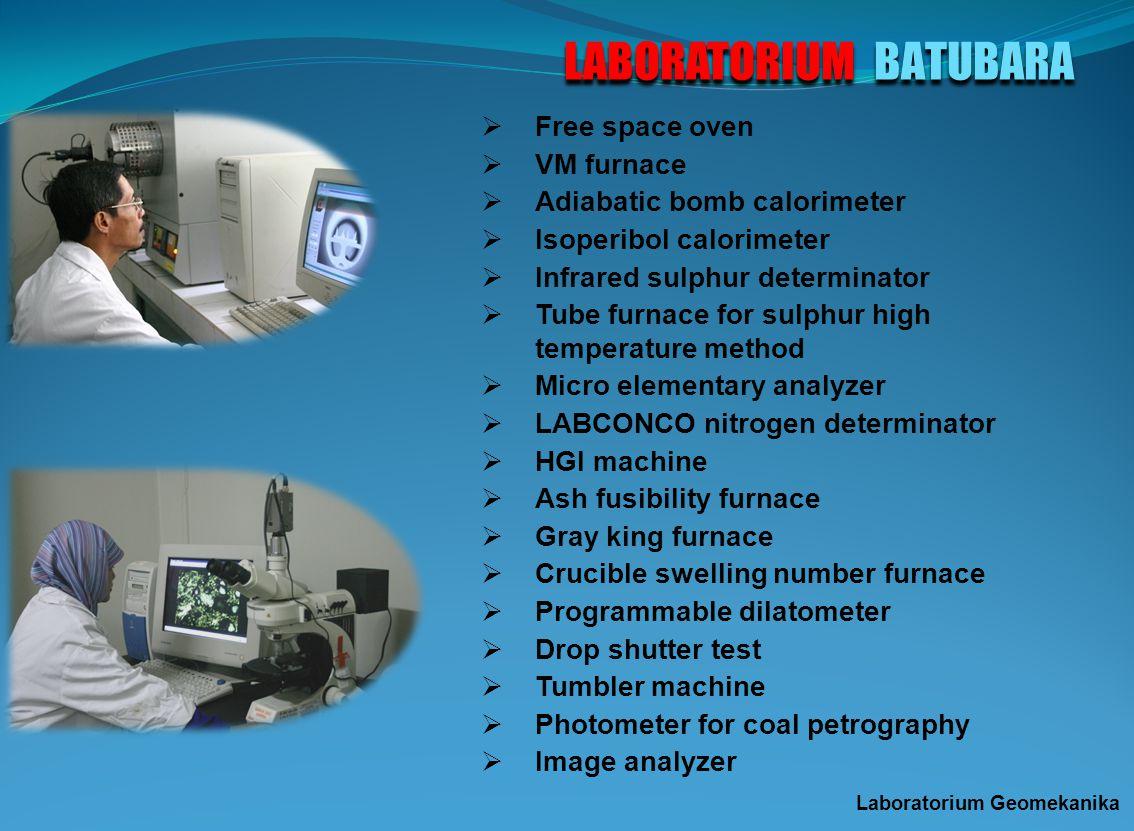 LABORATORIUM FISIKA MINERAL Laboratorium Sifat Fisik dan X-Ray : Peralatan pengukuran berat jenis, KTK zeolit, KTK lempung, Lovibond Tintometer, Parti