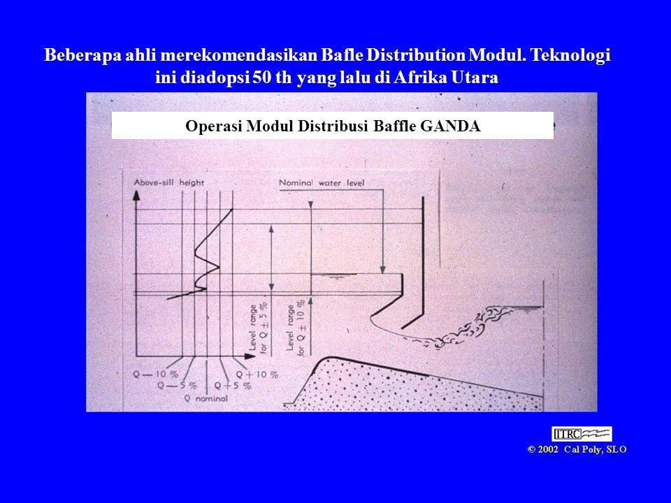 Beberapa ahli merekomendasikan Bafle Distribution Modul. Teknologi ini diadopsi 50 th yang lalu di Afrika Utara Operasi Modul Distribusi Baffle GANDA