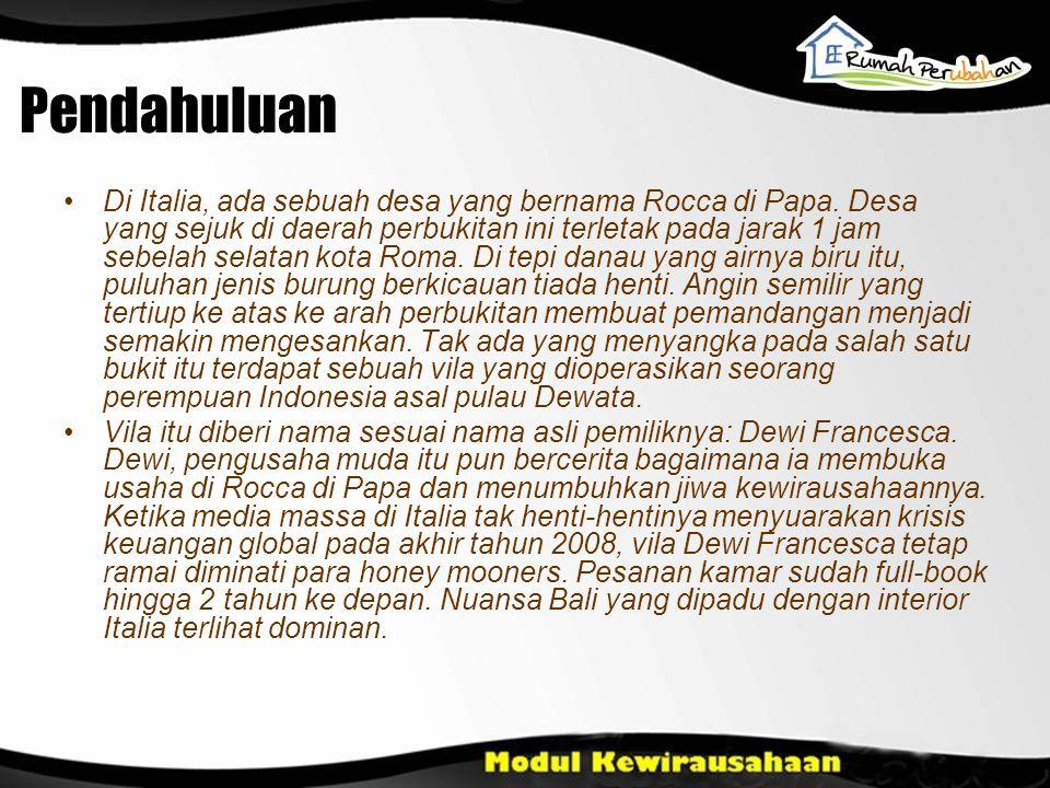 Pendahuluan •Di Italia, ada sebuah desa yang bernama Rocca di Papa.