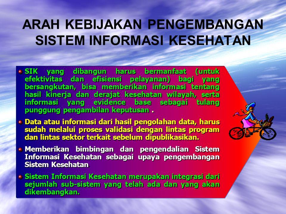 PENEGASAN 1.Setiap Puskesmas, Dinas Kesehatan Kab./ Kota dan Dinas Kesehatan Provinsi harus memiliki pusat pengelola data.