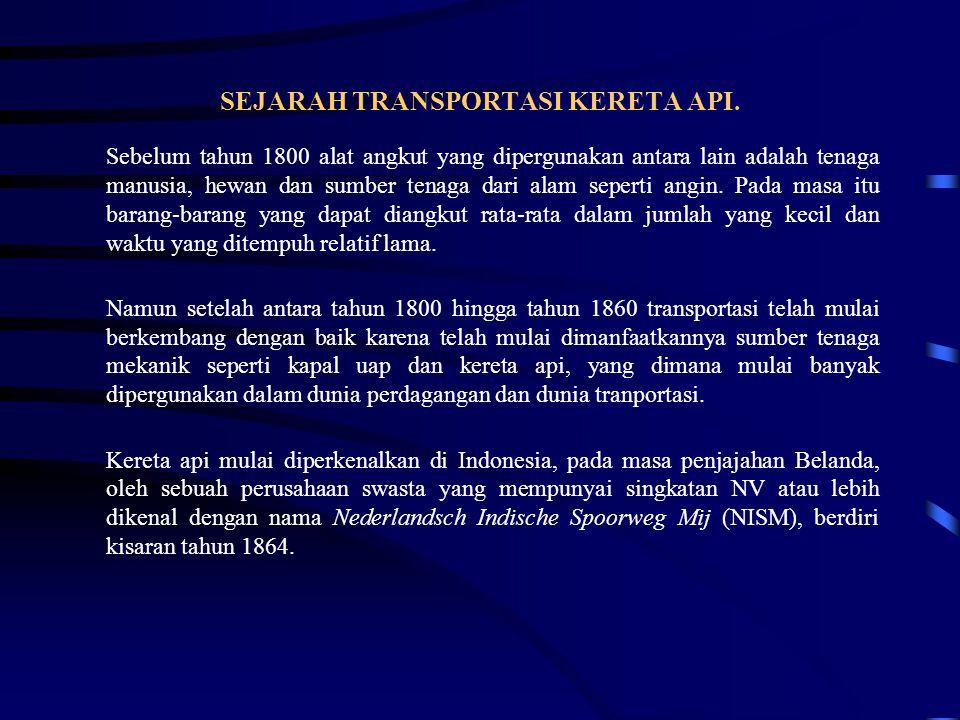 SEJARAH TRANSPORTASI KERETA API.