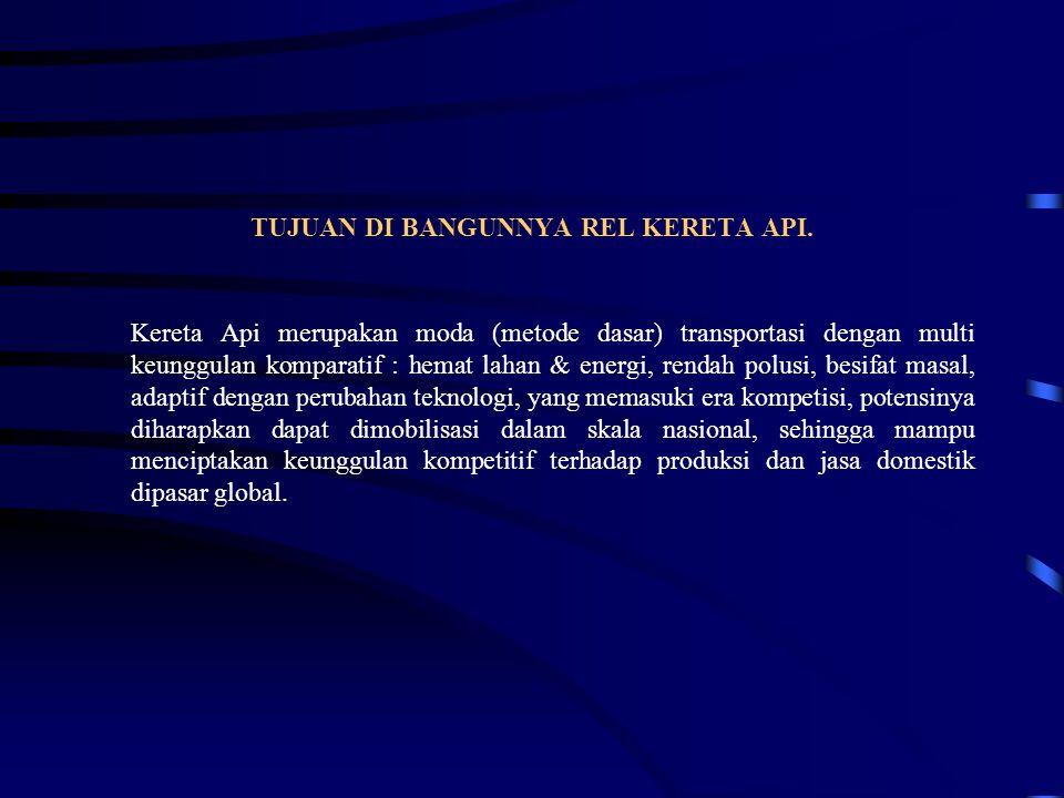 TUJUAN DI BANGUNNYA REL KERETA API.