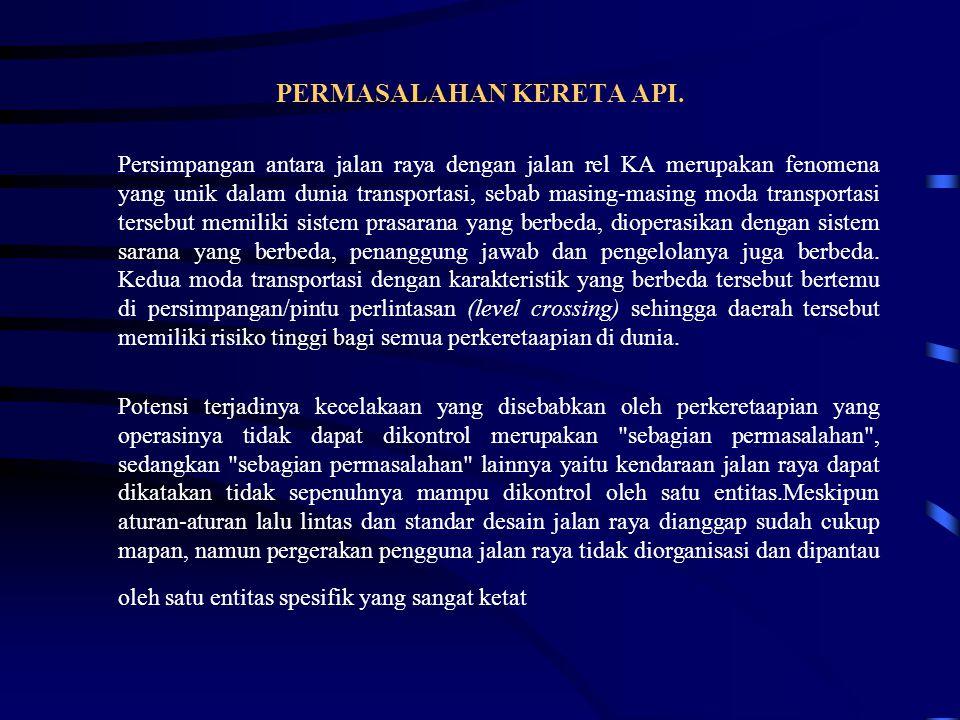 PERMASALAHAN KERETA API.