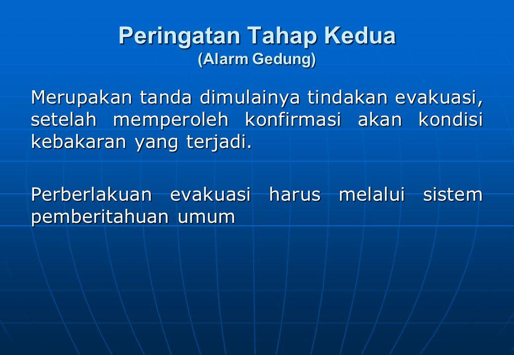 Prosedur bagi… SELURUH PENGHUNI / KARYAWAN GEDUNG  Saat Melihat Api  Saat Mendengar Alarm Tahap I  Saat Mendengar Alarm Tahap II  Saat Evakuasi  Saat Pengungsian di Luar Gedung