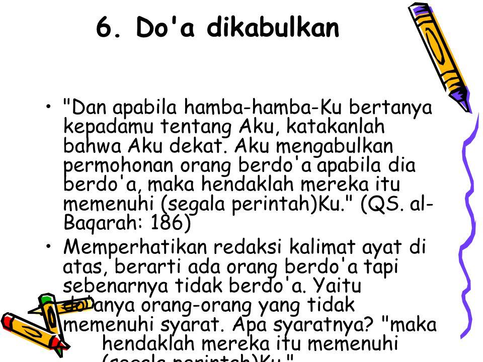 6. Do'a dikabulkan •