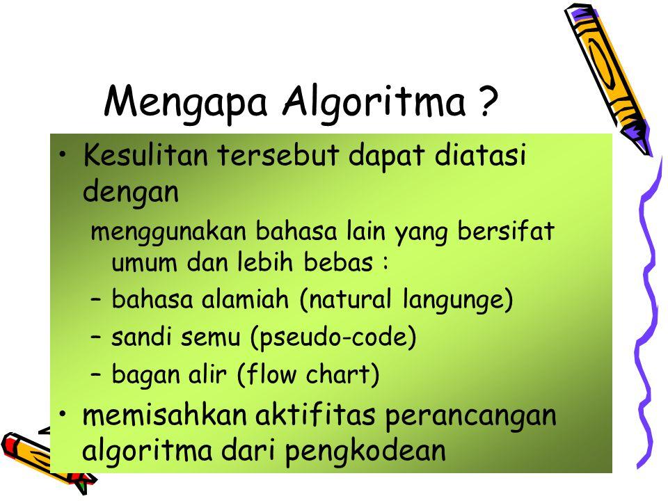 Mengapa Algoritma .